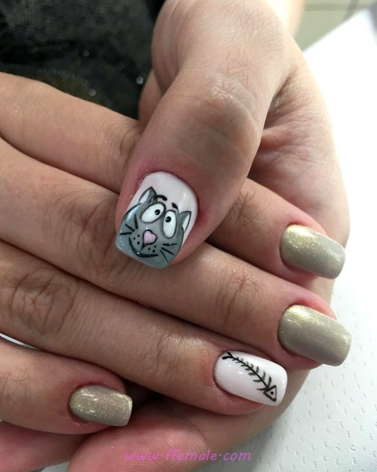 Graceful & Cutie Acrylic Manicure Art - artful, nailart, furnished, precious