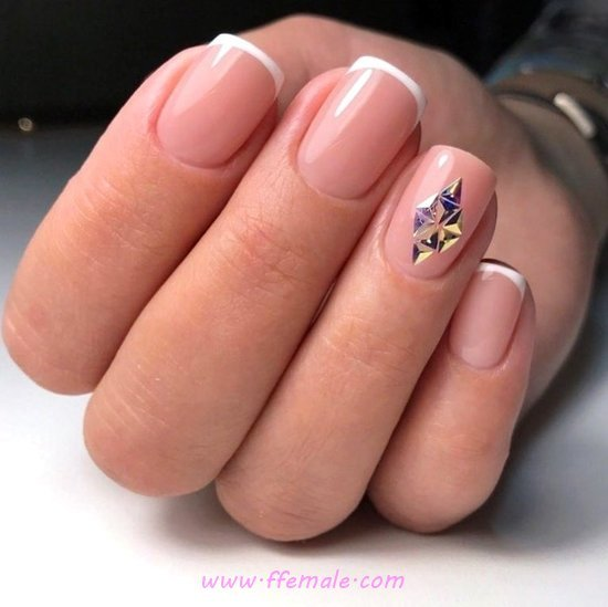 Handy & Creative French Gel Nails Design - gelnails, nailideas, nail, selection