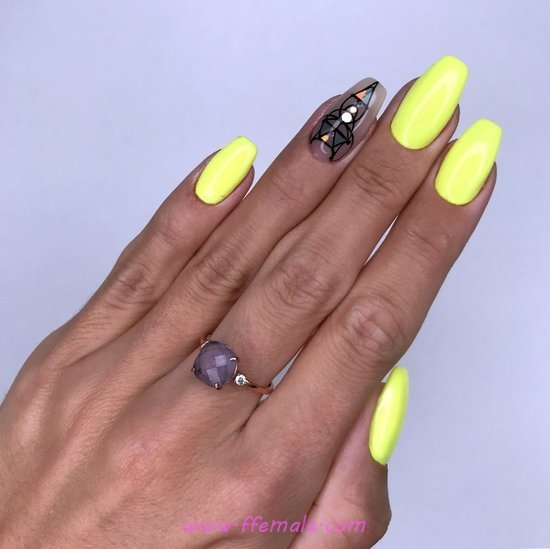 Hot And Awesome Gel Manicure - style, neat, cute, nails, naildesign