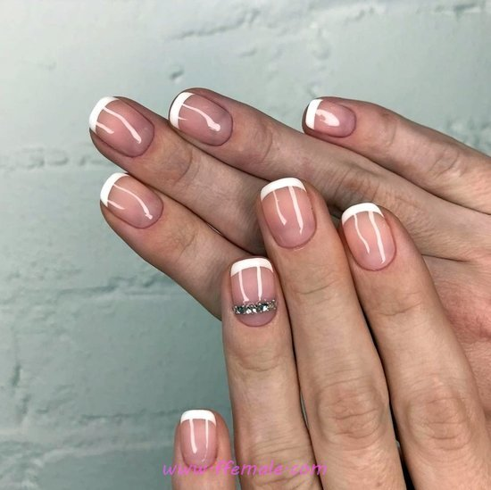 Iconic And Feminine Gel Manicure - graceful, shiny, naildesign, nails