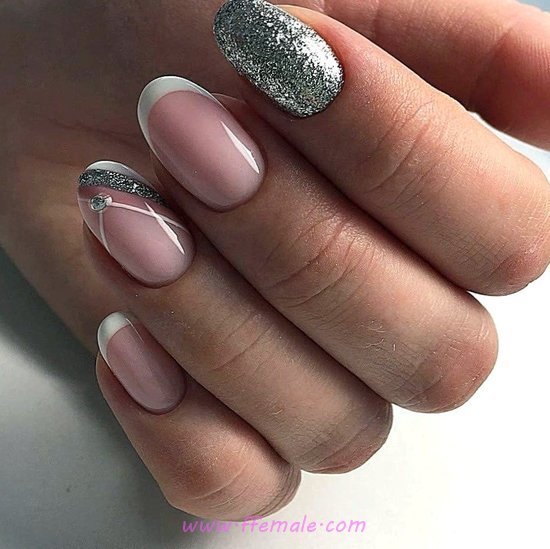 Inspirational Adorable French Acrylic Nail Design Ideas - cool, sexiest, nailstyle, nail, magic