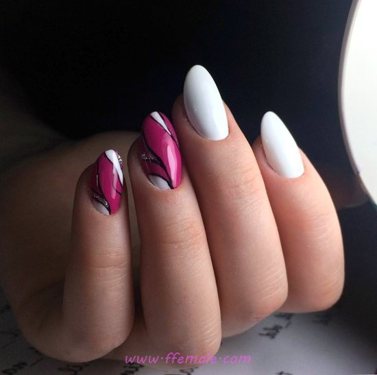 Lovable And Cool American Gel Nail Design - nailidea, nails, royal, smart