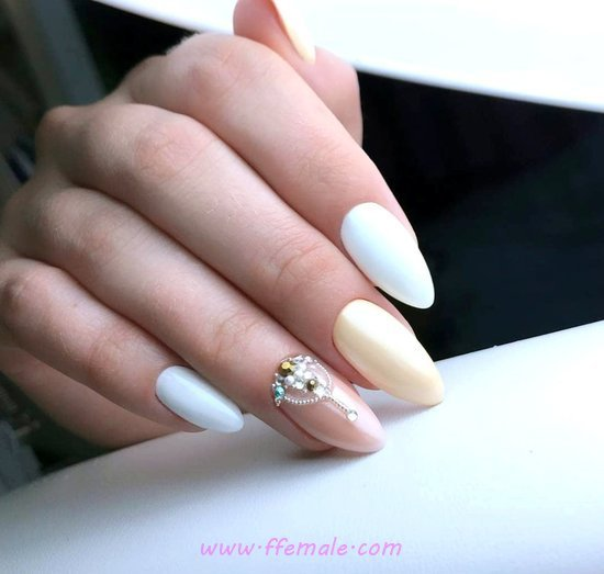 Lovely And Casual Gel Nails Design - sweetie, nail, amusing