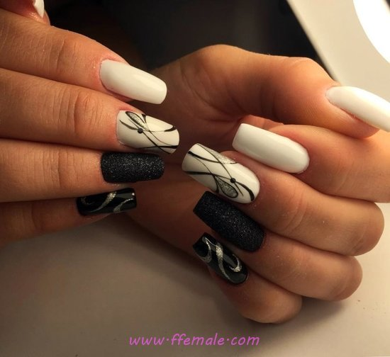 My Creative And Graceful Nail Art Ideas - trendy, nails, nailstyle, star, cool