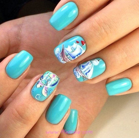 My Dreamy Loveable Gel Nail Art Ideas - plush, nailart, nailstyle, vacation