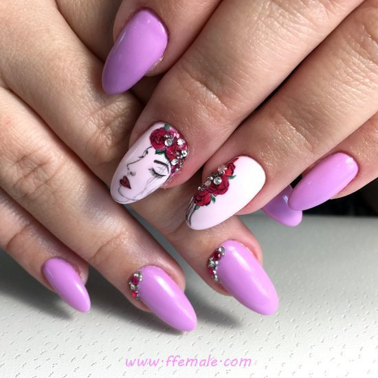 My Easy Ceremonial Acrylic Manicure Art Design - delightful, naildiy, nailidea, nail