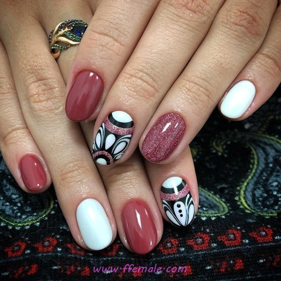 My Girly Inspirational American Gel Nail Design - design, beautytips, nail, shiny