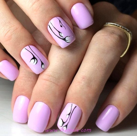 My Iconic And Cool Manicure Art Design - dainty, nailartideas, nail, lovable