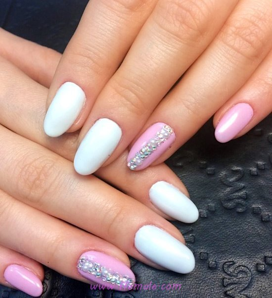 My Inspirational And Dreamy American Manicure - ideas, top, nailartdesign, nails