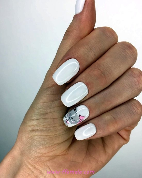 Orderly And Chic Nails Design - weekend, lovely, classic, nails