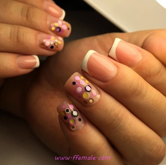 Orderly And Classy Acrylic Manicure - smart, creative, vacation, nails