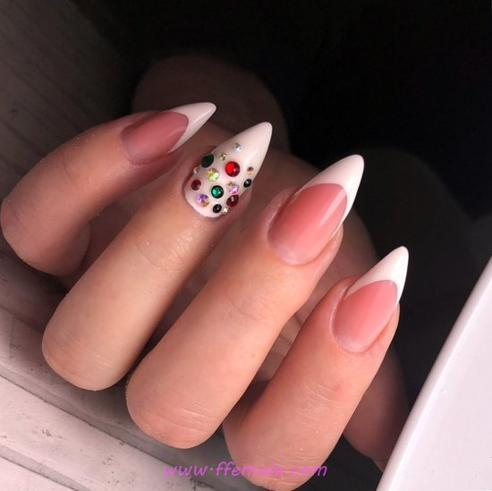 Orderly & Ceremonial French Acrylic Nails Art - love, beauty, nails, graceful, dreamy