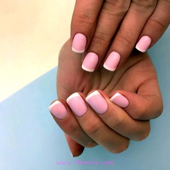 Perfect Girly Gel Manicure Idea - nailstyle, nails, elegant, sexiest