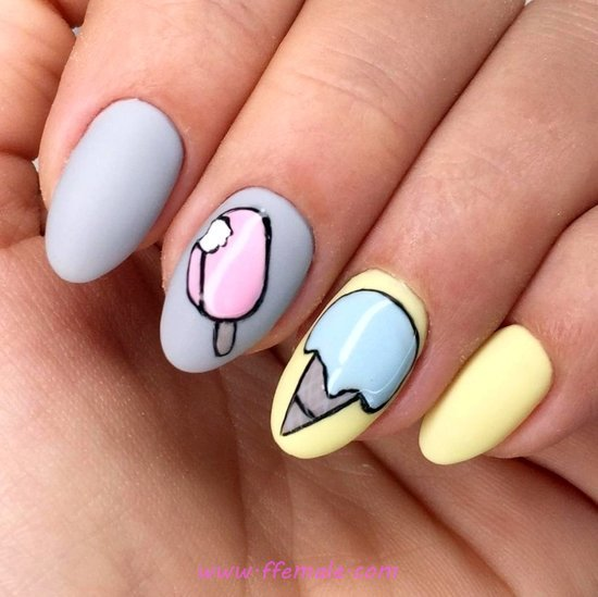 Pretty Adorable Acrylic Manicure Ideas - getnails, naildesigns, nail, cutie
