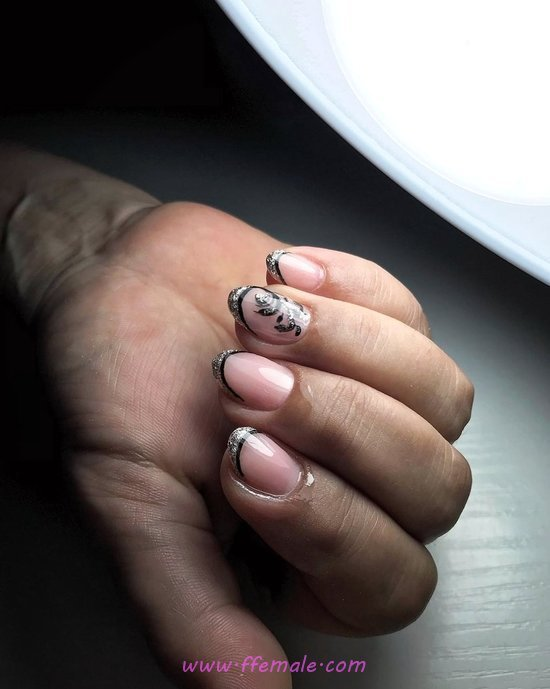 Pretty And Best French Acrylic Nails Trend - inspiration, plush, nail, gotnails