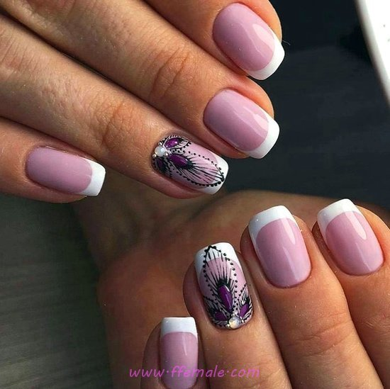 Professionail Cutie American Manicure Style - getnails, dainty, nailart, teen, nice