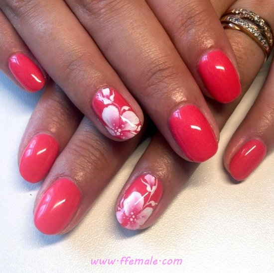 Simple And Enchanting American Manicure Design Ideas - idea, nailartdesigns, nails, neat