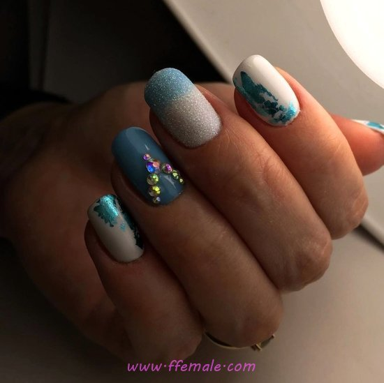 Simple Chic American Acrylic Manicure Art Ideas - clever, smart, artful, handsome, nail