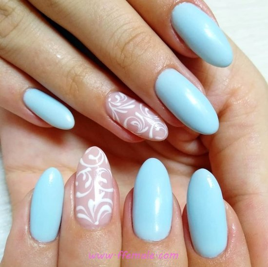 Stately And Beautiful Acrylic Nails Idea - gotnails, design, nail, creative
