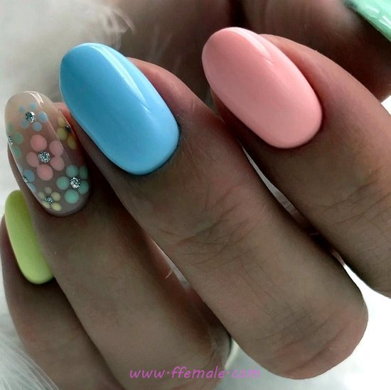 Stately And Best Gel Nail Trend - royal, neat, naildesign, nails, cutie