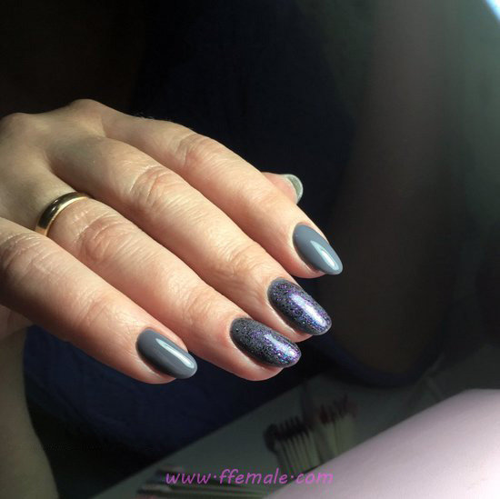 Stately & Casual Acrylic Manicure Idea - fashion, shiny, amusing, cute, nail