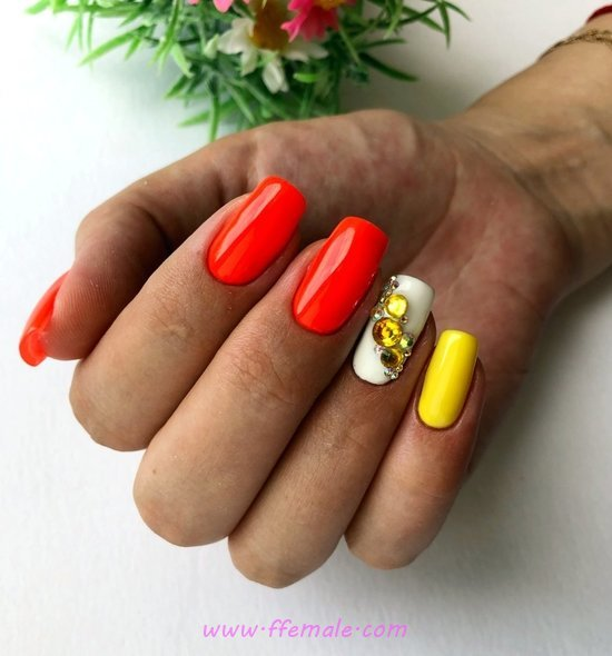 Super Cool American Acrylic Nails Art Design - nailart, nailideas, loveable, best