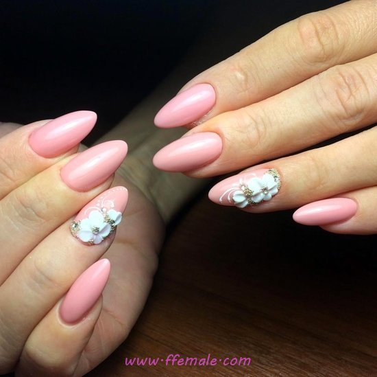 Unique And Classic Acrylic Manicure Design Ideas - sweet, nailideas, nail, gel, dreamy