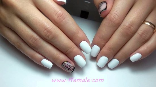 Unique & Ceremonial French Gel Nail Art Ideas - nailart, cute, nice