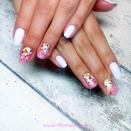 Wonderful & Classy American Nails Art Design - beauty, dainty, nails, sweetie